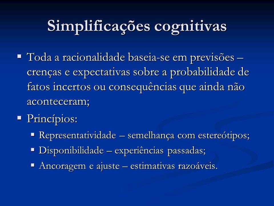 Simplificações cognitivas