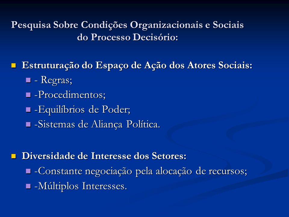 -Equilíbrios de Poder; -Sistemas de Aliança Política.