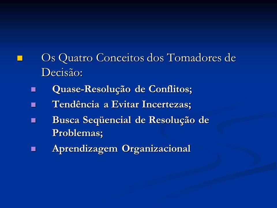 Os Quatro Conceitos dos Tomadores de Decisão: