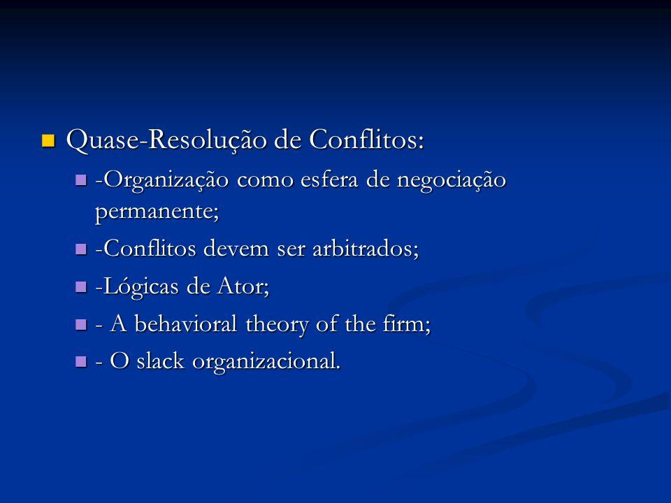 Quase-Resolução de Conflitos: