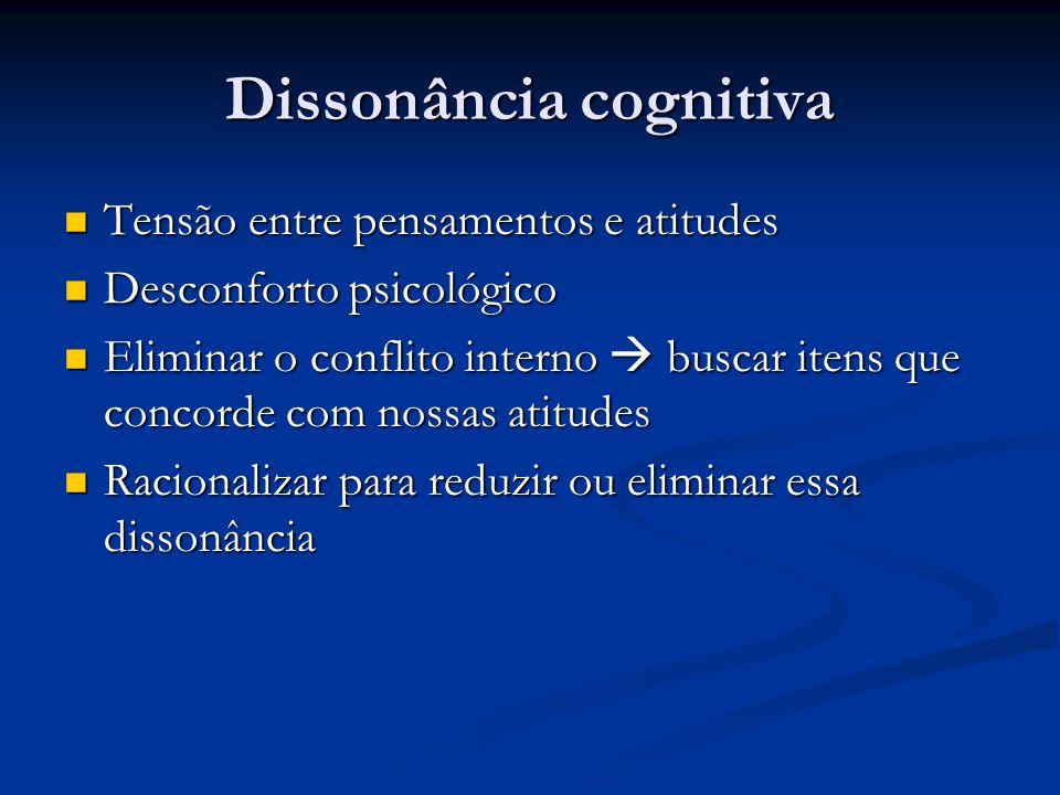 Dissonância cognitiva