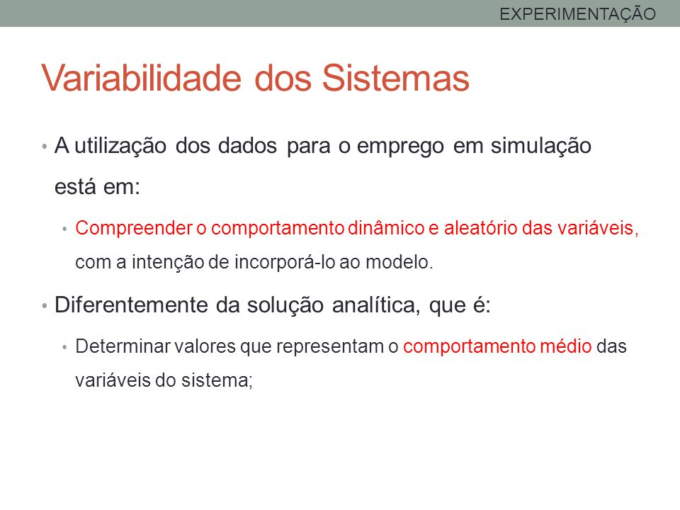 Variabilidade dos Sistemas
