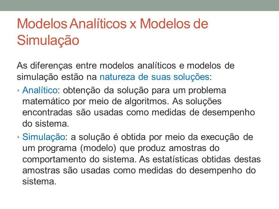 Modelos Analíticos x Modelos de Simulação