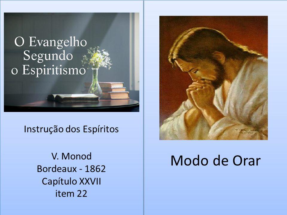 Modo de Orar Instrução dos Espíritos