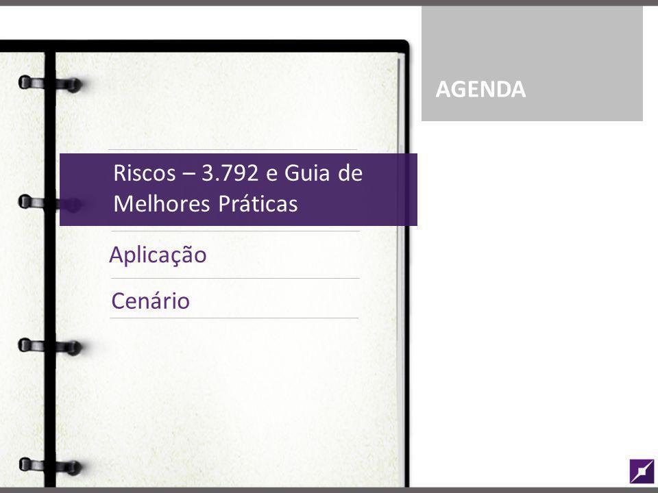 AGENDA Riscos – 3.792 e Guia de Melhores Práticas. Riscos – 3.792 e Guia de Melhores Práticas. Aplicação.
