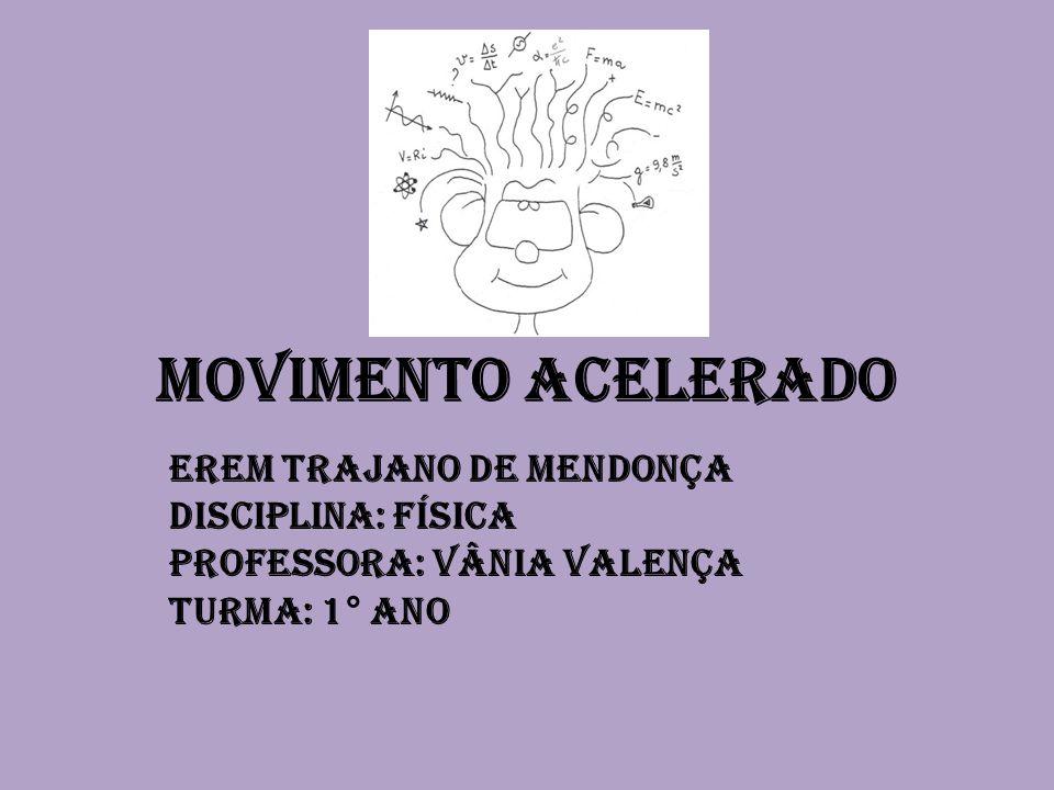 Movimento acelerado EREM TRAJANO DE MENDONÇA Disciplina: Física
