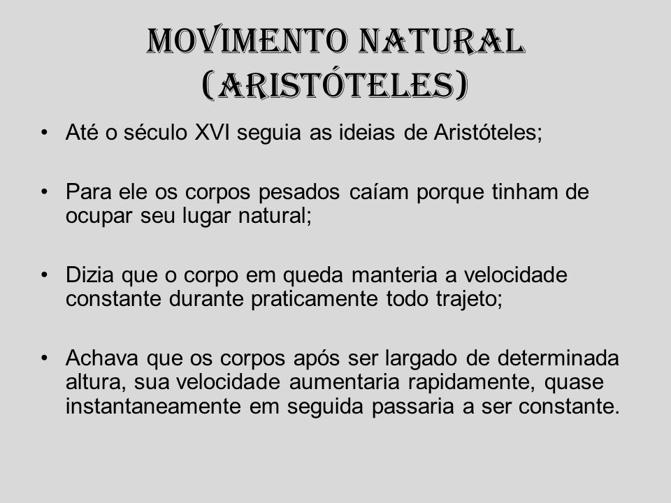 Movimento Natural (Aristóteles)