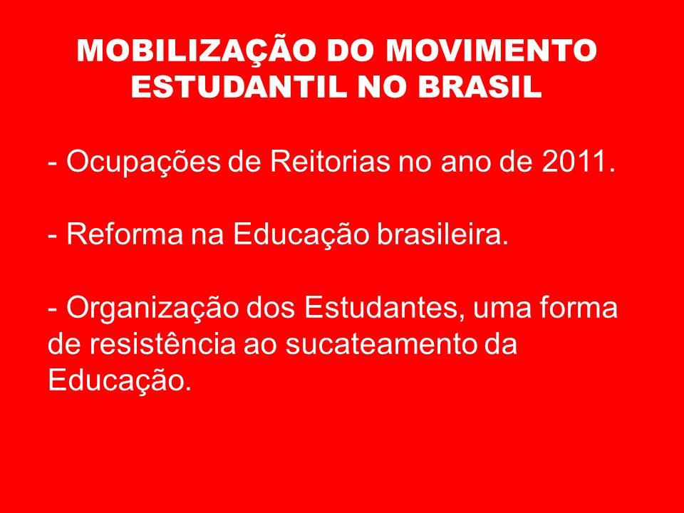 MOBILIZAÇÃO DO MOVIMENTO ESTUDANTIL NO BRASIL