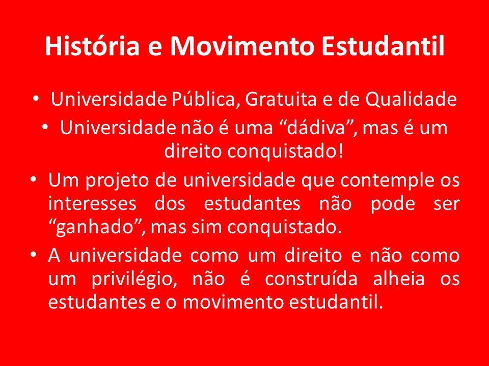 História e Movimento Estudantil