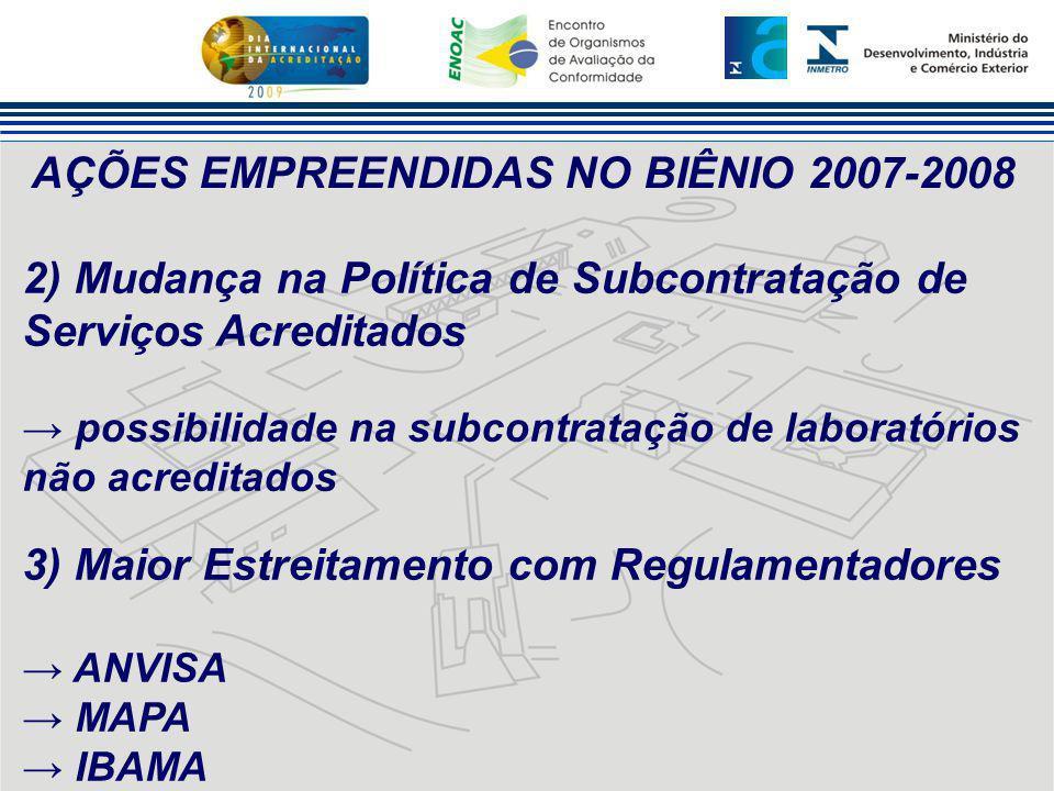 AÇÕES EMPREENDIDAS NO BIÊNIO 2007-2008