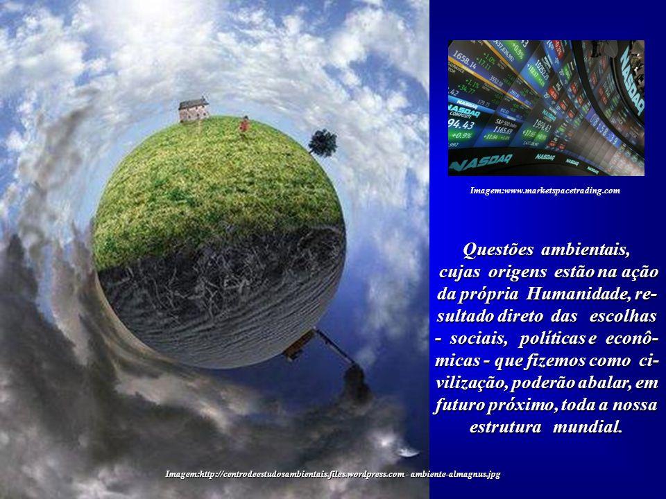 Imagem:www.marketspacetrading.com Questões ambientais,