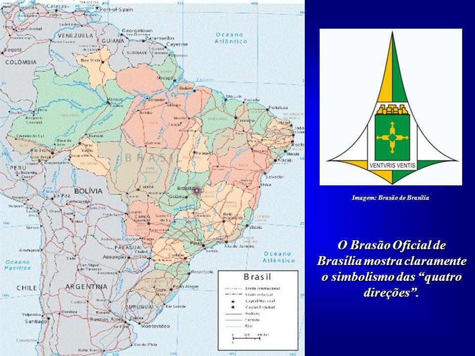 Brasília mostra claramente o simbolismo das quatro direções .