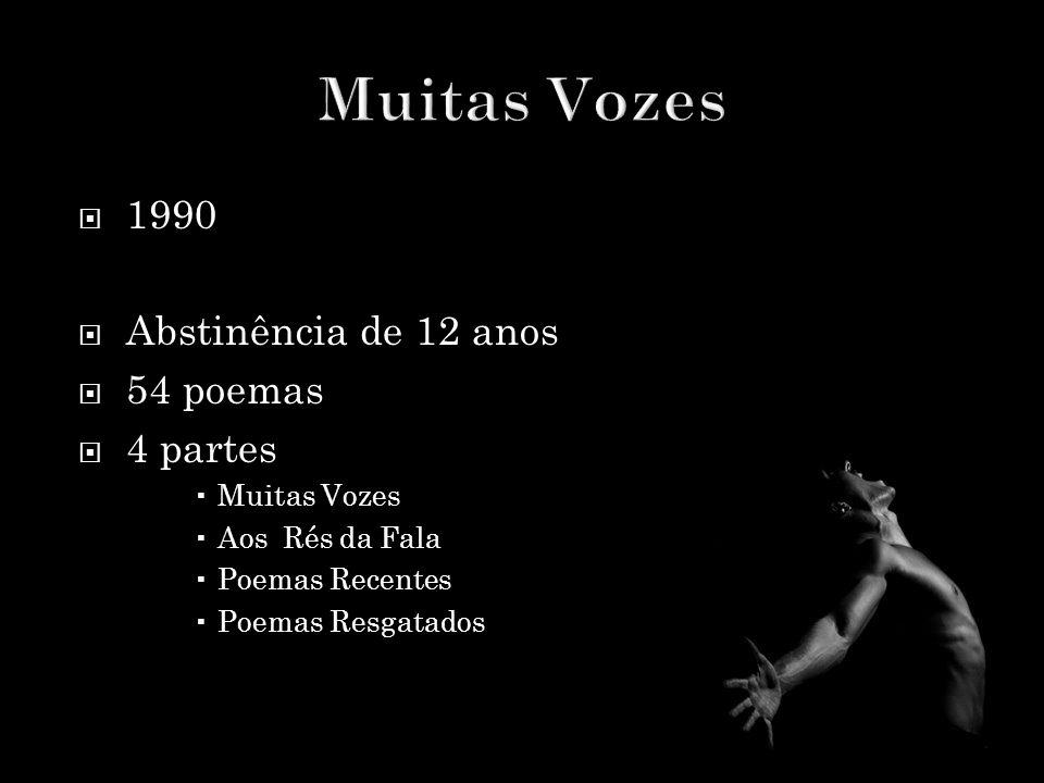 Muitas Vozes 1990 Abstinência de 12 anos 54 poemas 4 partes