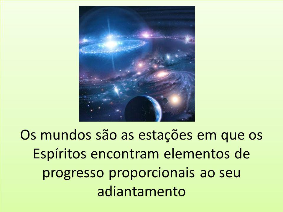 Os mundos são as estações em que os Espíritos encontram elementos de progresso proporcionais ao seu adiantamento