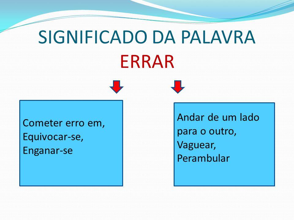 SIGNIFICADO DA PALAVRA ERRAR