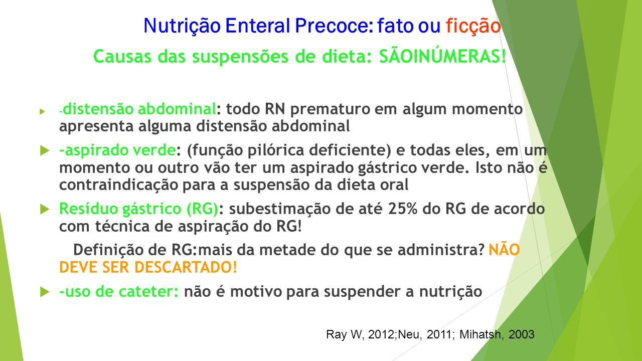 Nutrição Enteral Precoce: fato ou ficção