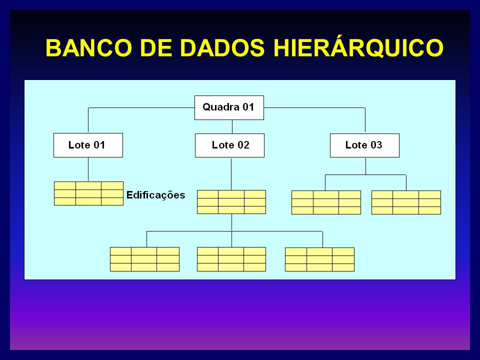 BANCO DE DADOS HIERÁRQUICO