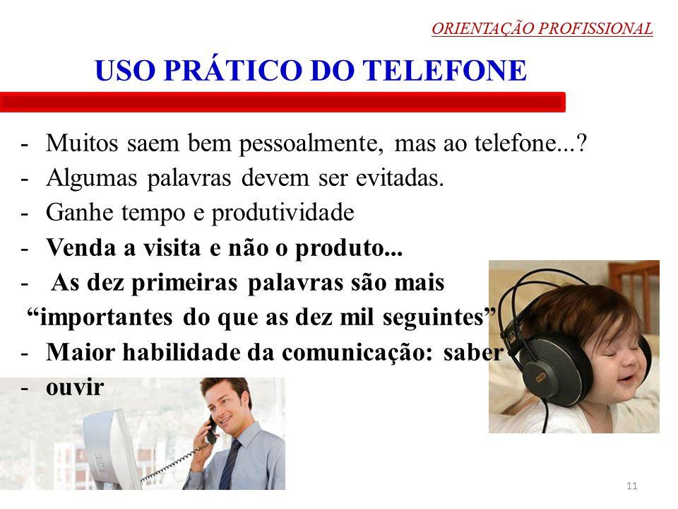 USO PRÁTICO DO TELEFONE