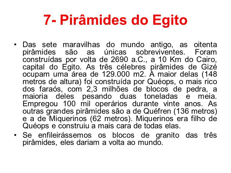 7- Pirâmides do Egito