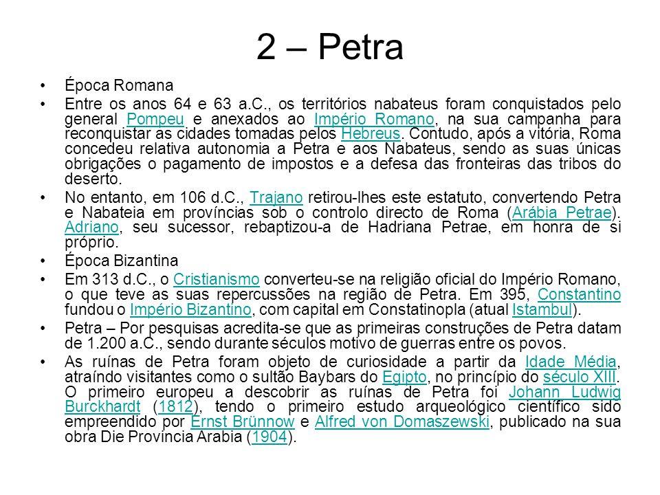 2 – Petra Época Romana.