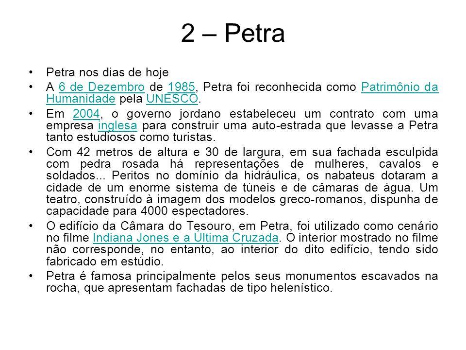 2 – Petra Petra nos dias de hoje