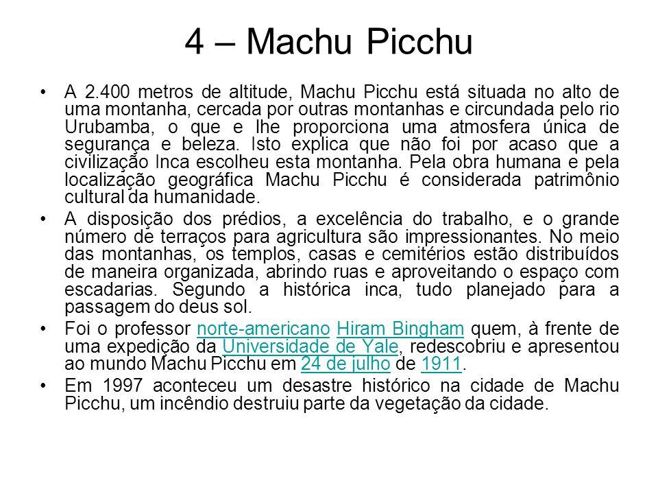 4 – Machu Picchu