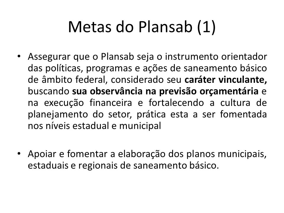 Metas do Plansab (1)