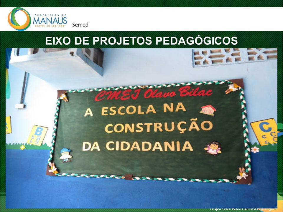 EIXO DE PROJETOS PEDAGÓGICOS
