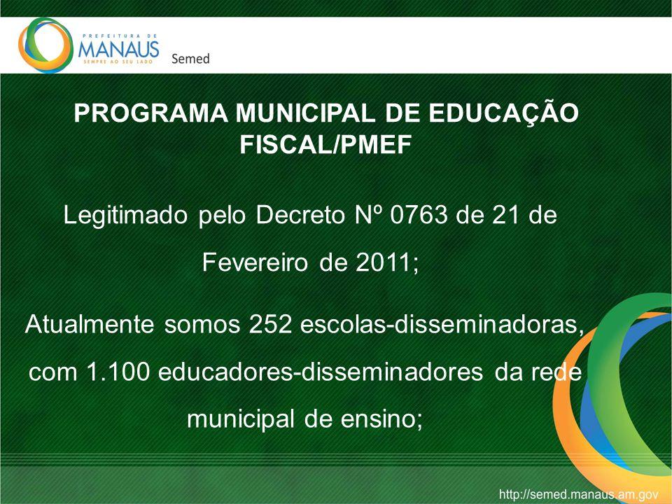 PROGRAMA MUNICIPAL DE EDUCAÇÃO FISCAL/PMEF