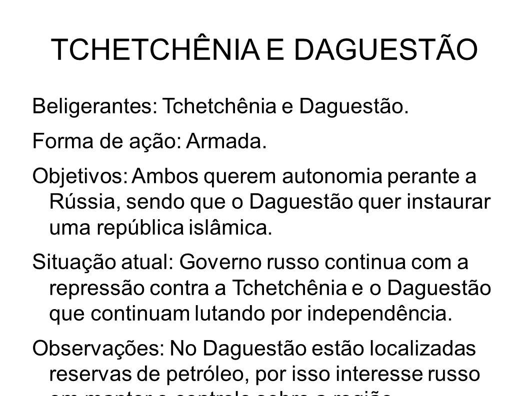 TCHETCHÊNIA E DAGUESTÃO