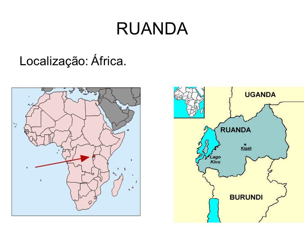 RUANDA Localização: África.