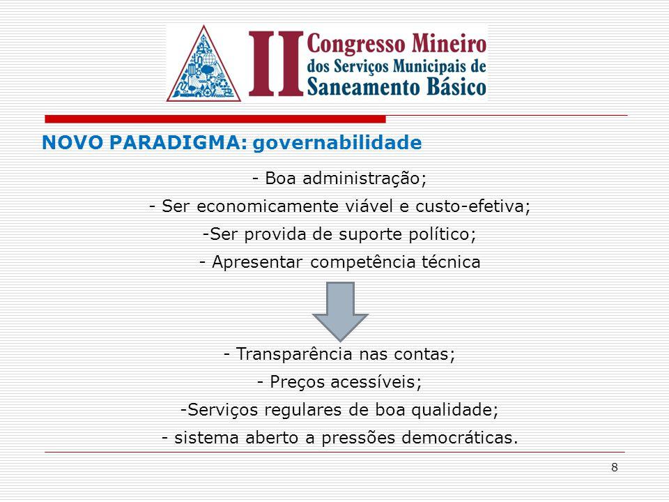NOVO PARADIGMA: governabilidade