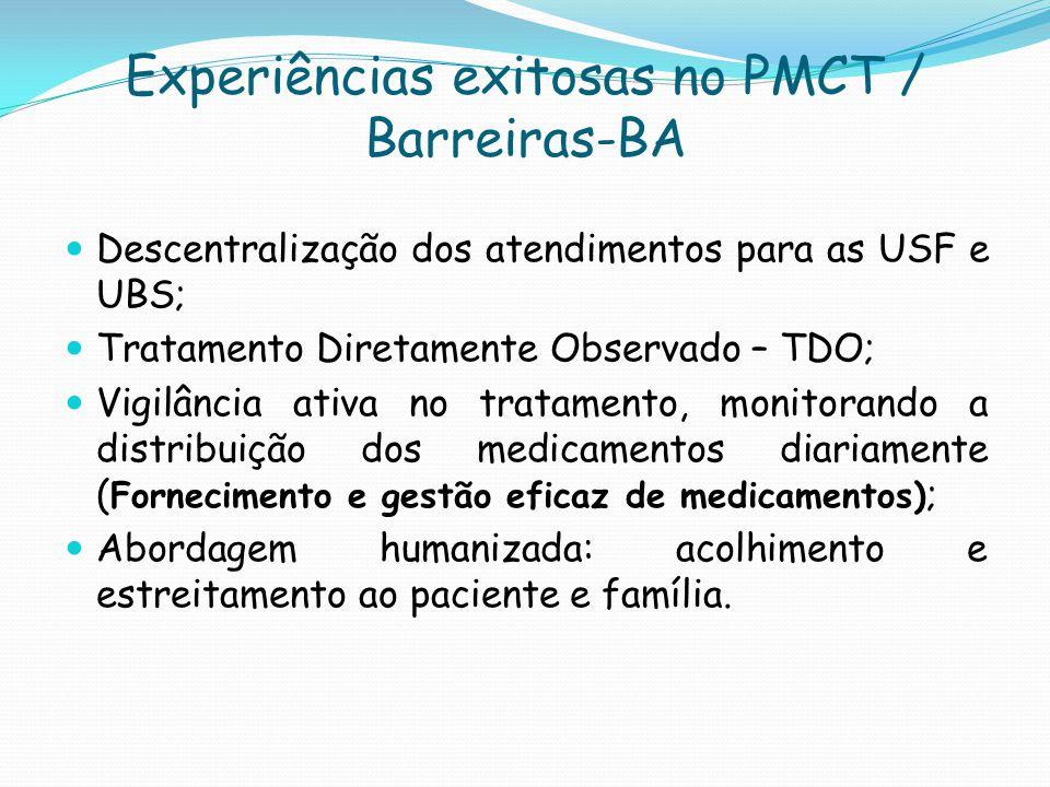 Experiências exitosas no PMCT / Barreiras-BA