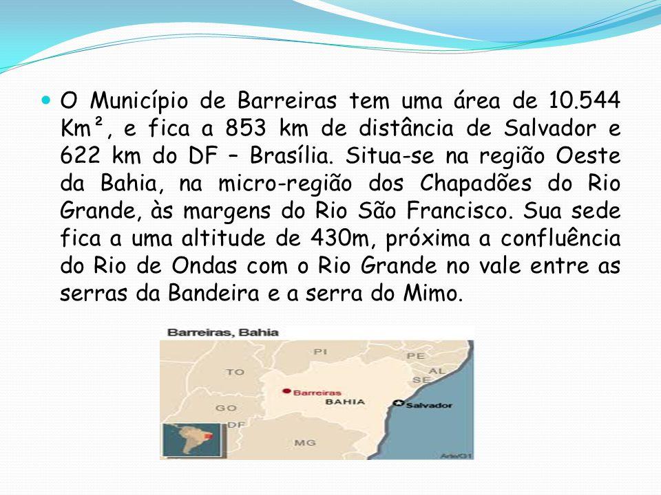 O Município de Barreiras tem uma área de 10