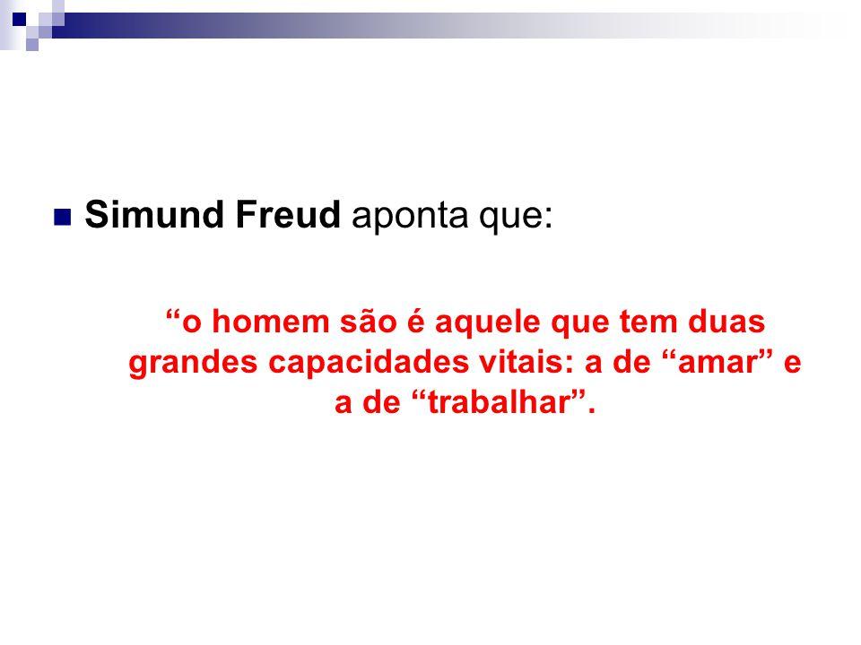 Simund Freud aponta que: