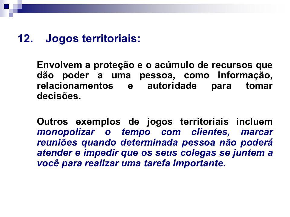 12. Jogos territoriais: