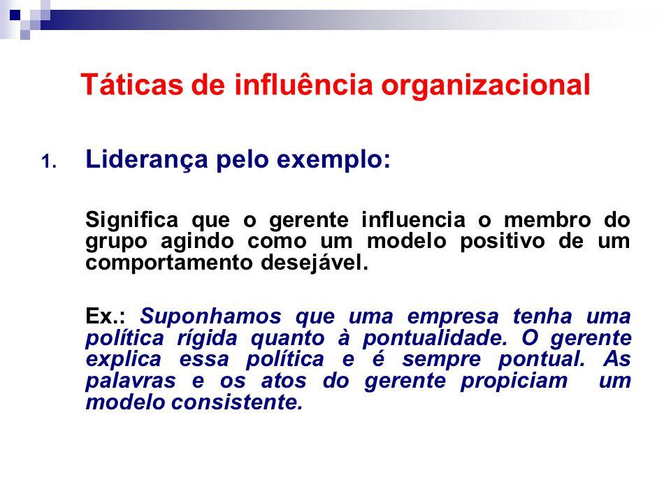 Táticas de influência organizacional