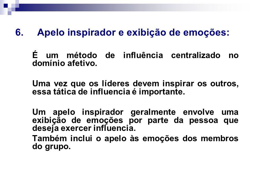 6. Apelo inspirador e exibição de emoções: