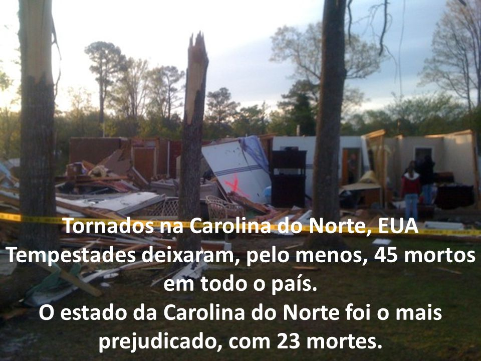 Tornados na Carolina do Norte, EUA