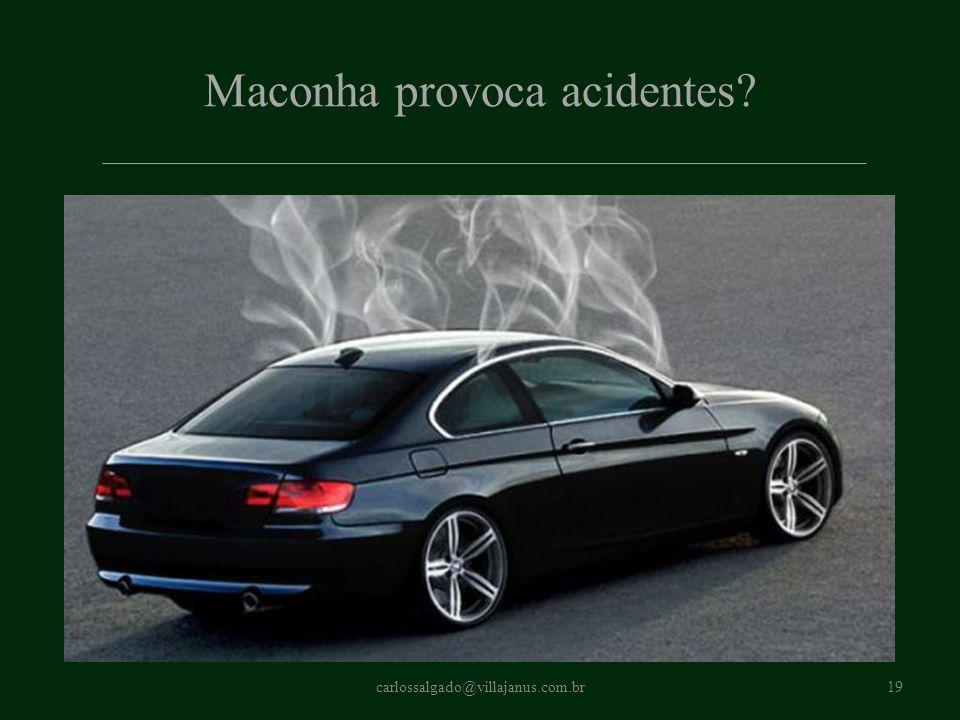 Maconha provoca acidentes