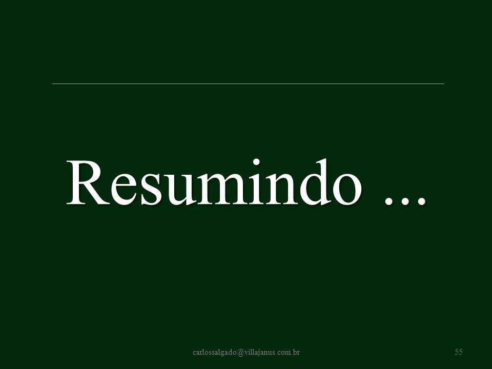 Resumindo ... carlossalgado@villajanus.com.br
