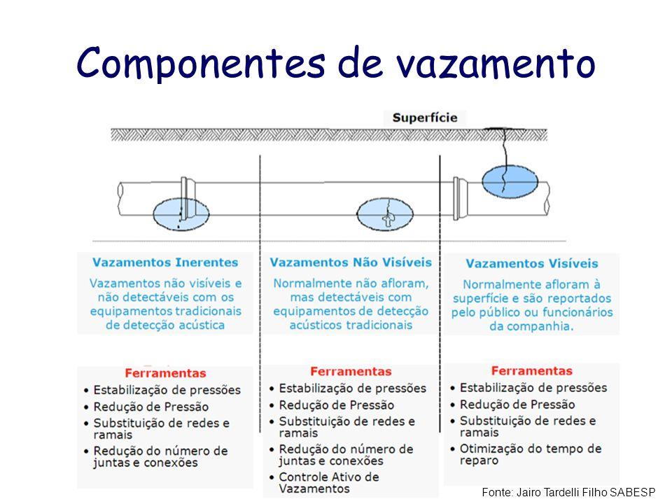 Componentes de vazamento