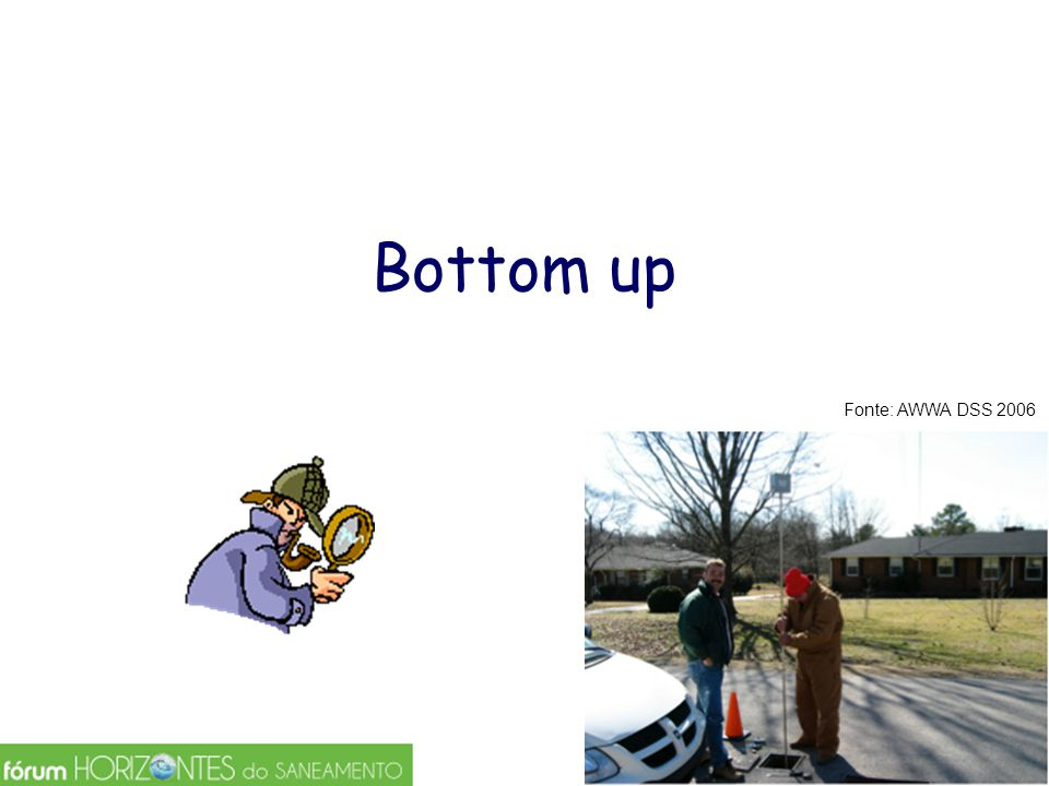 Bottom up Fonte: AWWA DSS 2006