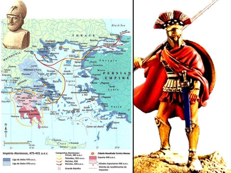 Império Ateniense Liga de Delos X Liga do Peloponeso