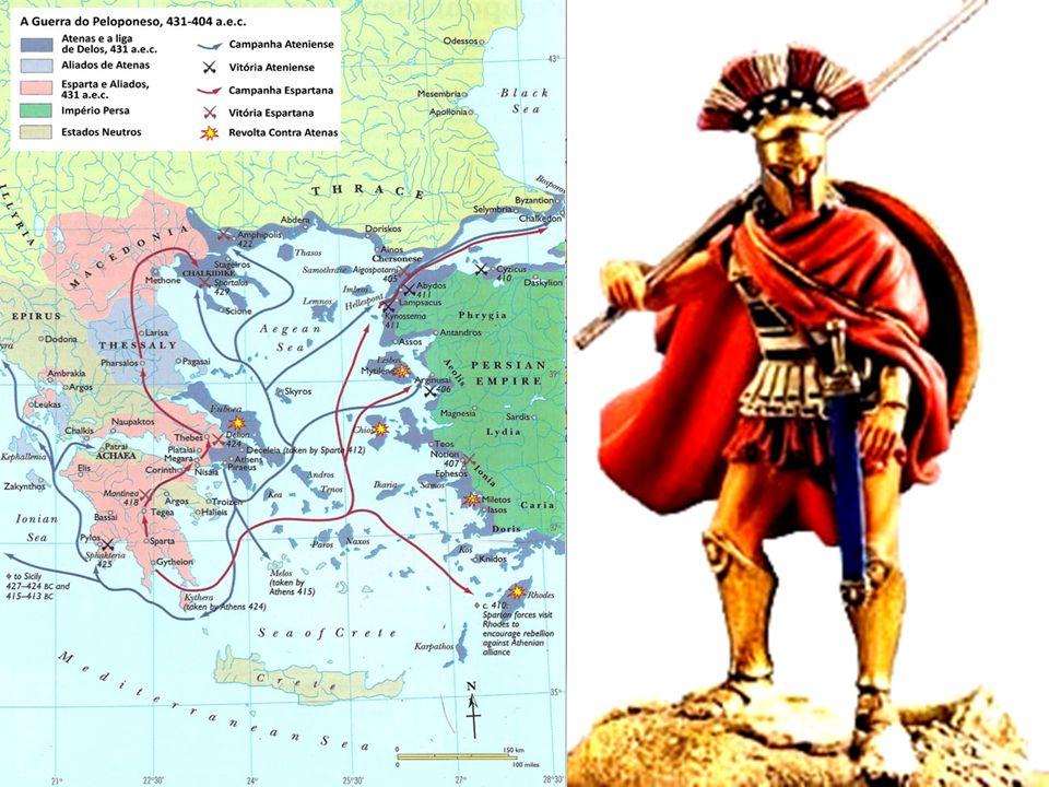 A Guerra do Peloponeso Guerra entre a pólis dos atenienses e a pólis dos espartanos pela liderança política na Hélade (431-404 a.C.)
