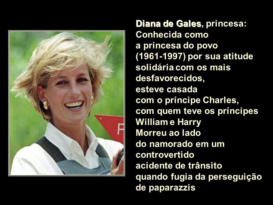 Diana de Gales, princesa: Conhecida como