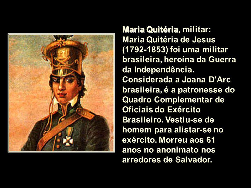 Maria Quitéria, militar: