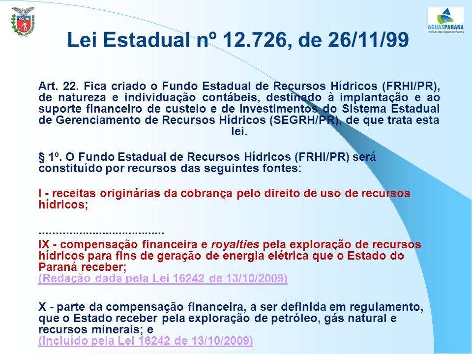 Lei Estadual nº 12.726, de 26/11/99