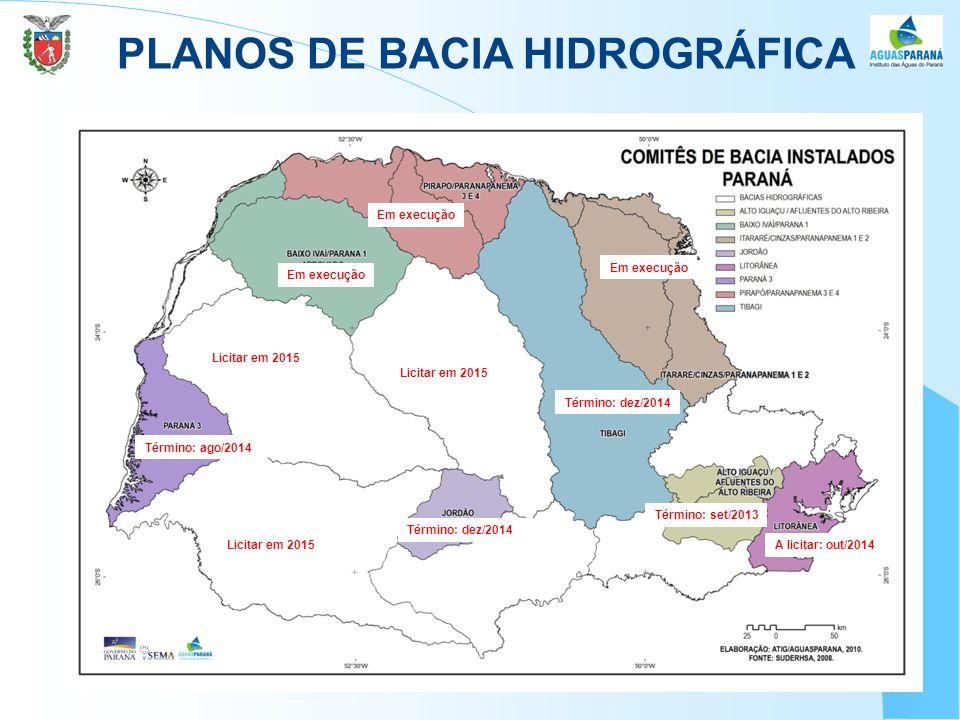 PLANOS DE BACIA HIDROGRÁFICA