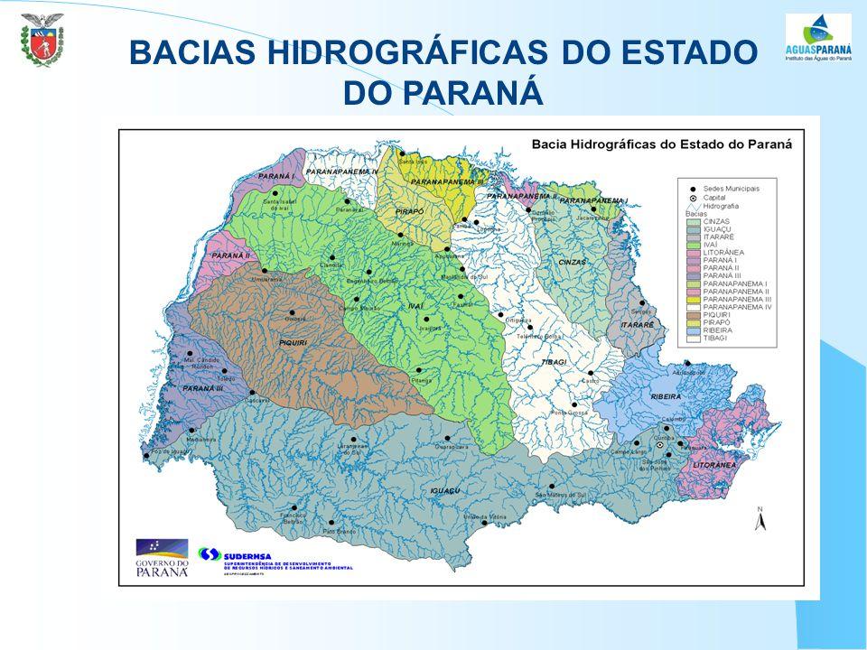 BACIAS HIDROGRÁFICAS DO ESTADO